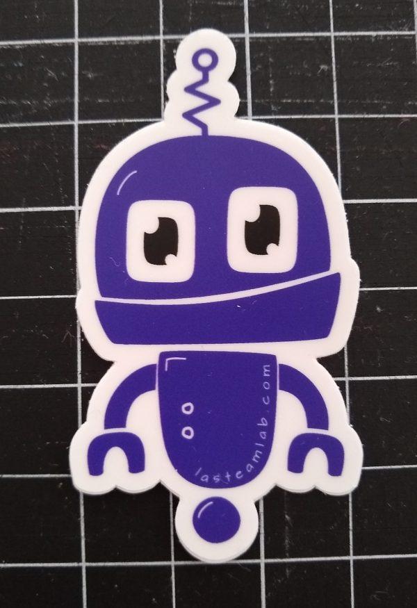 Dark Purple Kiss Cut Chibi Bot