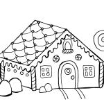 Line Drawn Gingerbread House