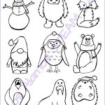 Winter Friends Coloring Sheet