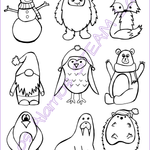 Winter Friends Coloring Sheet