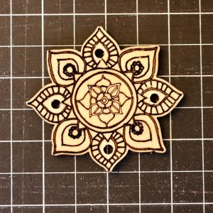 Mandala Button Front